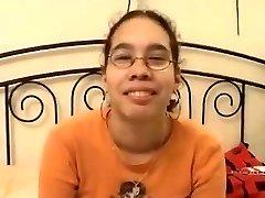 Amateur - Cute Asian Glasses Teen Boned & Facial Cumshot