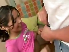 Baby Sitter fucks dad while mom is at work