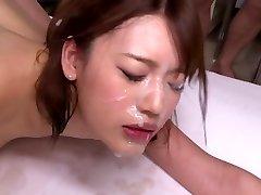 Vroče japonski bukkake scene