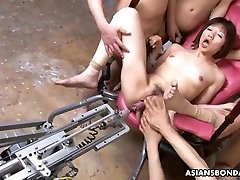 Fucking her with a hump machine and marionettes go bananas