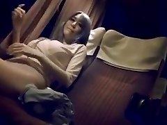 Mature chick on night bus