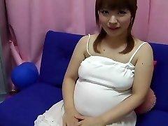 Yui aihara - cute japanese preggo nipple play
