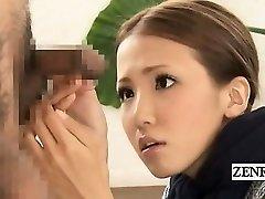 Subtitled CFNM Japanese freaky gang penis inspection