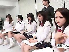 Subtitled CFNM Asian students nude art class
