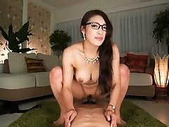 What's her name? Japanese secretary rides and takes internal cumshot