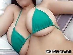귀여운 갈색 머리 아시아의 매력이 part4