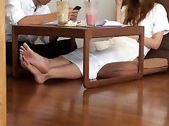School Asian Candid Warm FEET LEGS TOES SOLES