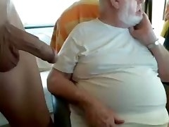 grandpa and young on cam