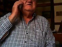 gandpa show on web cam