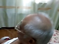 chinese grandpa jerking off