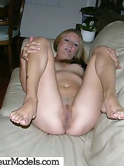 36 Year Old Amateur Milf Strips And Gives Sticky Handjob