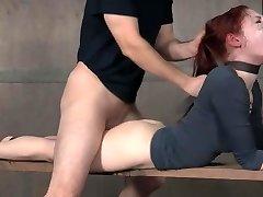 Redhead Sadism & Masochism facefuck and hard pounding