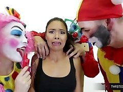 TwistedVisual.Com - Japanese MILF Gangbanged and Dual Penetrated by Clowns