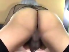 Ebony shemale fucks white guy