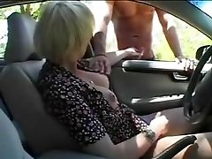 pretty Ladyboys  gargles and fucks outdoors