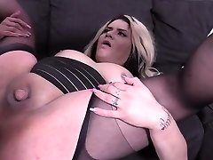 Hot shemale fucked hard and jizz flow