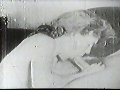Molten slut sucking vintage cock