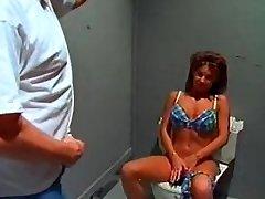 Giant boob bikini bimbo sextsar Leanna bathroom fuck