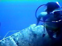 Wreck Scuba Diver In Bikini