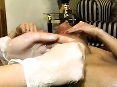 Hairy lezzy gets her pussy and ass toyed in wild three way