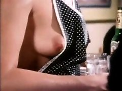 Old-school scene babe giving oral and tearing up