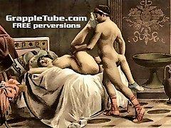 विंटेज रेट्रो शास्त्रीय कट्टर कमबख्त की कला