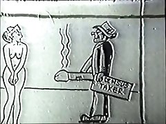 Horúce unshaved brunetka gazdinka má jej kundu v prdeli v vintage video