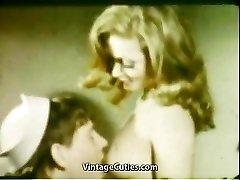 Gf's Fellate Mouth Cumshot (1960s Vintage)