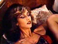 Retro Classic - Nymph in Satin Lingerie Pleasuring Herself