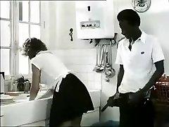 Exotic unexperienced Retro, Interracial porn clip