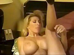 Summer Cummins Sky Blue Classic Buxom Lesbians Strap On Dildo Fuck