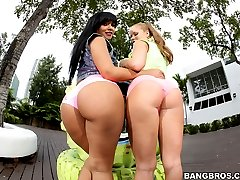 Rose Monroe & Nikki Delano to all you ass lovers out there! But then again, if you're an ass lover, a real ass lover, these 2 do not need an introduction! Rose has the perfect round booty and tits to