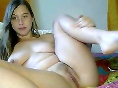 Gorgeous immature masturbating for web camera