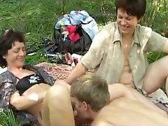 Crazy russian picnic with big b(.)(.)bs mature