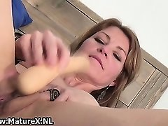 Horny skinny housewife is stuffing xxl part3