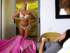 Lesbian teen mistress with big boobs