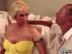 Blonde Cougar wife big cock anal internal ejaculation
