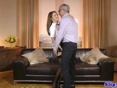 European college girl pleasures geriatric
