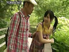 Japanese girl is getting fucked by her friend in his home