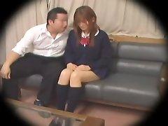 Gross Jap teen gets fucked in spy cam Asian sex video