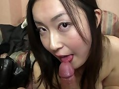 Subtitled Japanese gravure model hopeful Point Of View suck off in HD