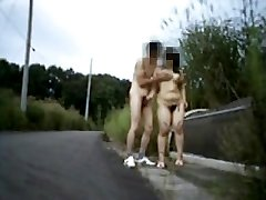 Amateur nudist couple