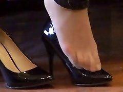 προμηθευτής άθλιοι (νάυλον) πόδια shoeplay με ψηλά τακούνια