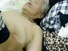 80year old Japanese Granny Still gets Creamed (Uncensored)