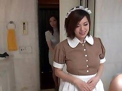 Sexy Oriental Maid in erotic motel scene