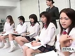 Subtitled CFNM Chinese schoolgirls nude art class