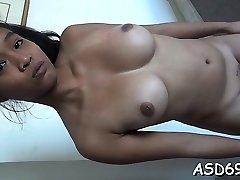 Rubbing and fucking oriental cunt