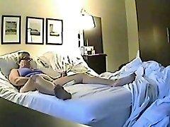 Covert sex cam filmed a horny minx jilling off