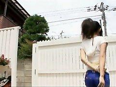 Frolicking muddy with sexy Yui Komine