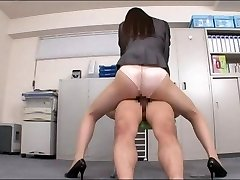 Office girl enjoying your chisel